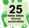 25 Easy Steps Towards Sustainability
